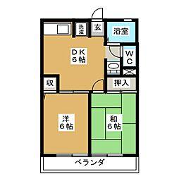ラ・メールA・B[1階]の間取り