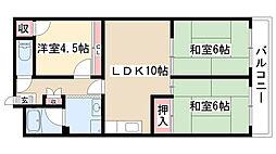 愛知県名古屋市昭和区白金3丁目の賃貸マンションの間取り