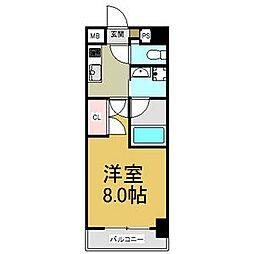 JR中央本線 大曽根駅 徒歩2分の賃貸マンション 5階1Kの間取り