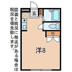 スパシオ徳行[2階]の間取り
