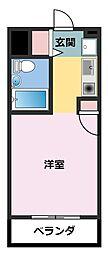 ライオンズマンション川崎第16[303号室]の間取り