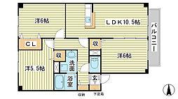 兵庫県たつの市神岡町大住寺の賃貸マンションの間取り