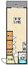 リバーハイツ山科[2階]の間取り