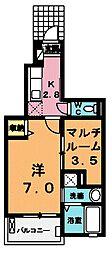 ティングローブV[1階]の間取り
