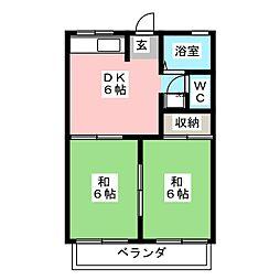 フォーブルふじ[2階]の間取り
