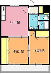 大型リニューアル物件メゾンブロンシェ[2階]の間取り