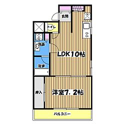 メゾンド・石川[3階]の間取り