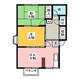 小川ハイツA棟[1階]の間取り
