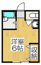 ハイツ三宅[203号室]の間取り