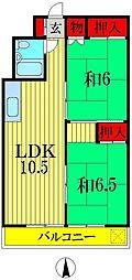 清水ビル[4階]の間取り