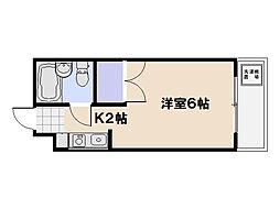サンゴマンション[501号室]の間取り