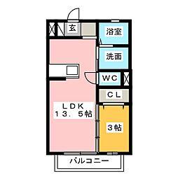 ビギニング A[2階]の間取り