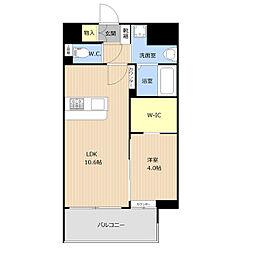 仮称)野間1丁目_101マンション 3階1LDKの間取り