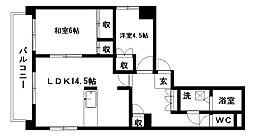 稲元ビル東伊場[7階]の間取り