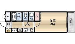 グリーンプラザ新梅田[8階]の間取り