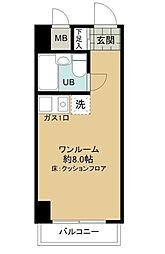 東京都新宿区西新宿3丁目の賃貸マンションの間取り