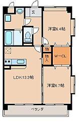 福福弐番館[4階]の間取り