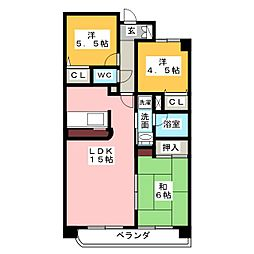 グランドメゾン徳重[4階]の間取り