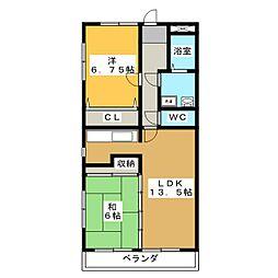 サンフェスタ・KATO B棟[3階]の間取り