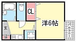 藤井ハイツ[205号室]の間取り