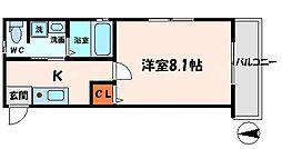 プロスペラーレ守口 4階1Kの間取り