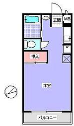 愛知県尾張旭市北本地ヶ原町一丁目の賃貸アパートの間取り