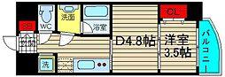 N77NAMBA[3階]の間取り