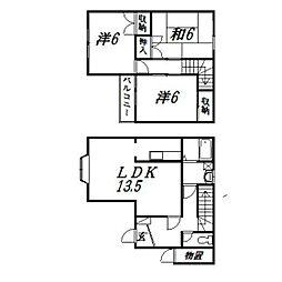 [テラスハウス] 静岡県浜松市中区神田町 の賃貸【/】の間取り