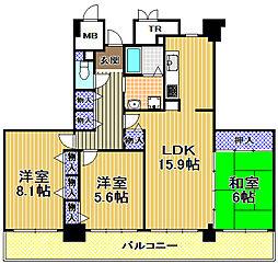 酉島リバーサイドヒルなぎさ街20号棟[37階]の間取り