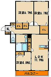 グラン エトワール[3階]の間取り