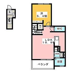 愛知県名古屋市中川区太平通2丁目の賃貸アパートの間取り