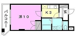 駅前マンション田窪[303 号室号室]の間取り