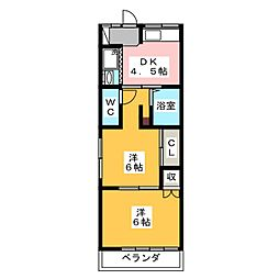 弥生荘[2階]の間取り