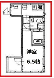 フィカタアヤセ 3階1Kの間取り