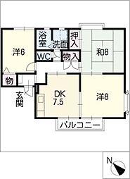 ビレッジ葵D・E棟[2階]の間取り