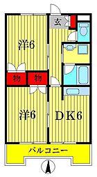 アンビルマンションB棟[2階]の間取り