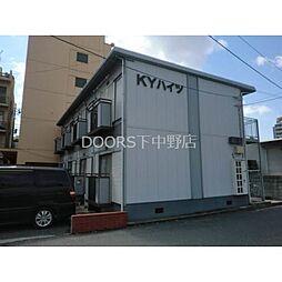 岡山県岡山市北区岡町の賃貸アパートの外観