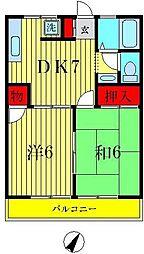 メゾンドエトランゼ[2階]の間取り