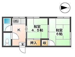 つばめマンション[3階]の間取り