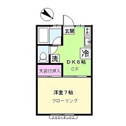ガーデンハウスB棟[211号室]の間取り