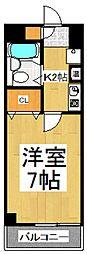 第二アビタシオン浅倉[6階]の間取り