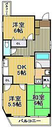 トミヤコーポ[4階]の間取り