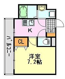 ステーションタワー[3階]の間取り