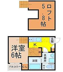 ハーモニーブリッジ桜山[1階]の間取り