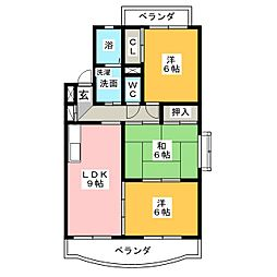 LaLa柿乃木坂[4階]の間取り