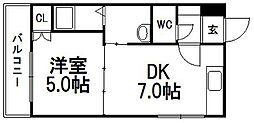 ビッグバーンズマンション南郷II[302号室]の間取り