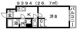 EXハイツ北新町[303号室号室]の間取り
