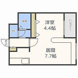 ハウスオブリザ澄川壱番館[4階]の間取り