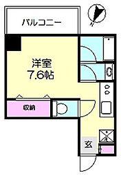 神奈川県横浜市南区宮元町3丁目の賃貸マンションの間取り