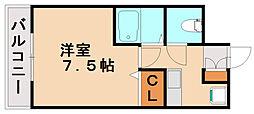 ピュアドームグランディ博多[7階]の間取り